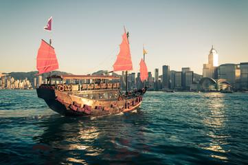Foto op Aluminium Hong-Kong Junk Ship