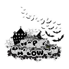 Happy Halloween abstract inscription