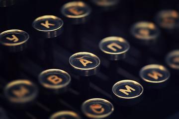 Vintage typewriter keyboard keys