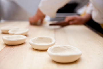 Lotus-leaf-shaped pancake, a kind of Chinese food