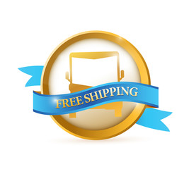 free shipping seal illustration design