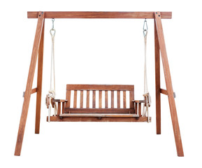 Swing chair isolated