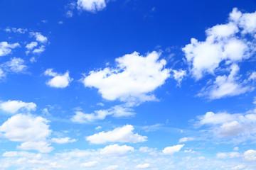 夏の青空と白い雲