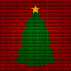 Christmas tree with pyramids background