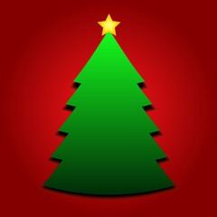 Christmas tree with yellow star