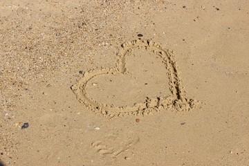 Coeur sable plage