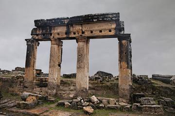 Ancient ruin in Hierapolis, Turkey