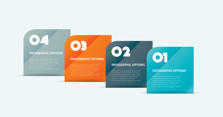 Infographic boxes vector