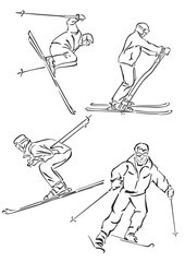 """""""silhouette of skiers"""""""