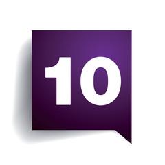 Number ten speech bubble