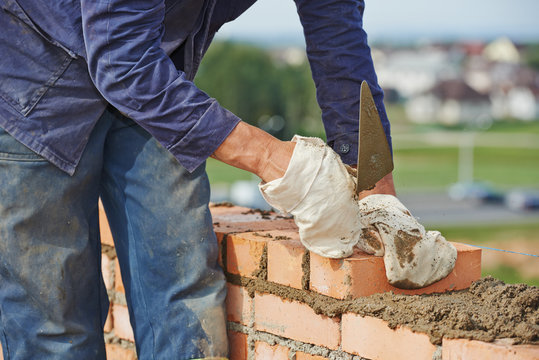 construction bricklayer work