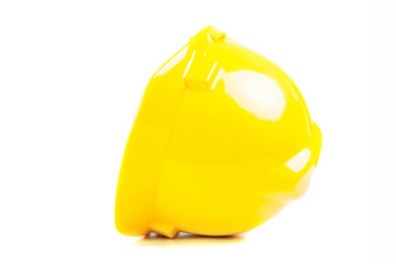 Yellow helmet isolated over white background