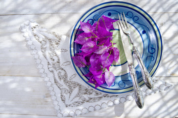 First Course With Bougainvillea