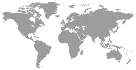 dotted black world map
