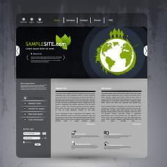 Dark Website template