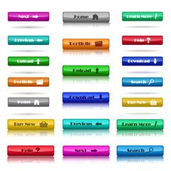 Web Elements - Buttons - Different Colours - Set