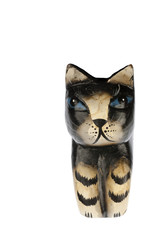 Statuette of kat face in closeup