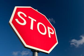Stop Sign Close Up