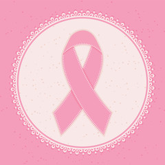 Breast Cancer Awareness Ribbon. Vector illustration.