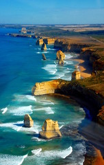 Printed kitchen splashbacks Australia Aerial view on Twelve Apostles, Great Ocean Road, Australia.