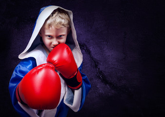 Boxing fighter portait