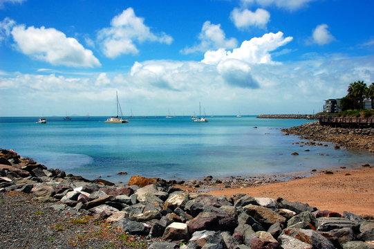 Airlie beach waterfront, Queensland, Australia.