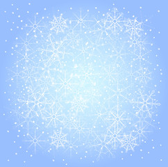 winter pattern of snowflakes