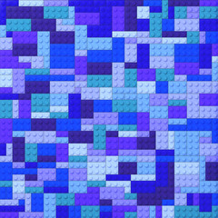 Toy bricks color background - blues