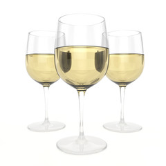 3 Glasses Of White Wine