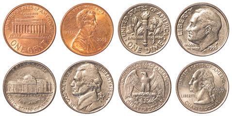 USA circulating coins Fototapete