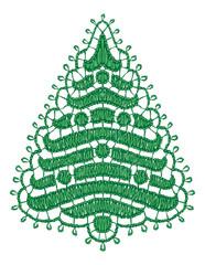 Lacy Christmas tree.
