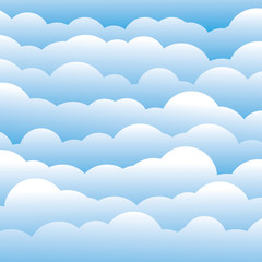 abstract blue 3d fluffy clouds background (backdrop) - vector gr