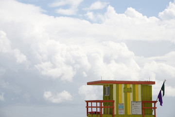 Lifeguard station, Miami beach