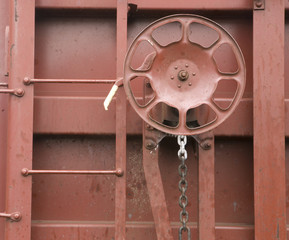 Railroad Boxcar Hand Brake Adjustment Wheel Cargo Transporter
