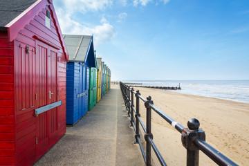 Wall Mural - Mundesley Beach Huts Norfolk England