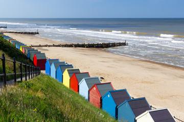 Fototapete - Mundesley Beach Huts Norfolk England