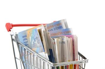 Einkaufswagen Geld