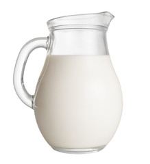 jug of milk isolated on white. clipping path included