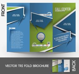 Customer Support Tri-Fold Mock up & Brochure Design