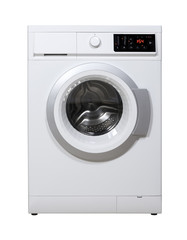 Washing machine isolated with clipping path.