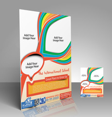 Vector Kid's School Brochure, Flyer, Magazine Cover
