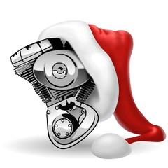 Fototapete - bicilindrico natalizio