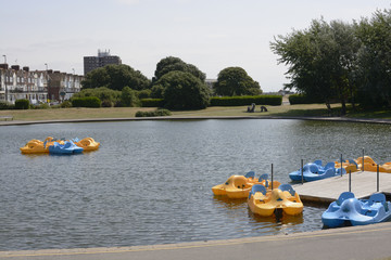 Boating pond at Littlehampton. Sussex. England
