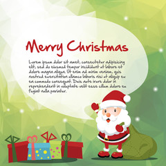 Santa and Christmas message