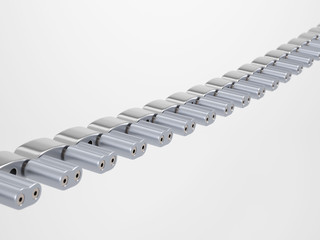 Half of a metallic chain