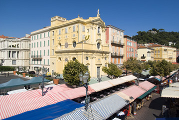 Foto op Canvas Nice Cours Saleya, Nice, France