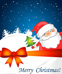 Christmas card with Santa Claus for the vector