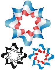 Patriotic bunting emblem