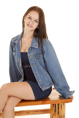 Girl bench sit jacket