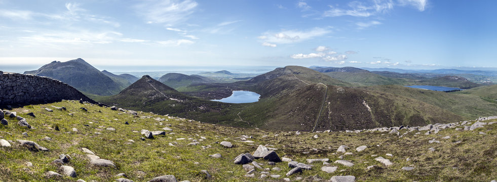 panorama Mourne mountains North Ireland